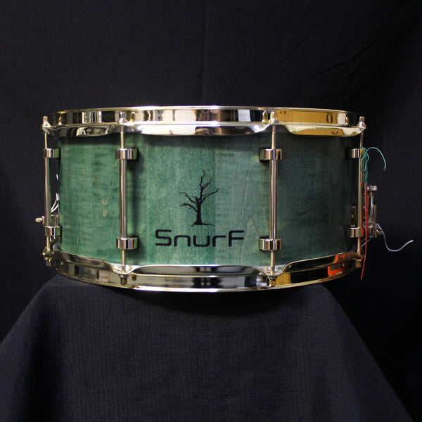 "Snurf Drums Custom Maple 14"" x 6.5"" Snare Drum - Satin Emerald"