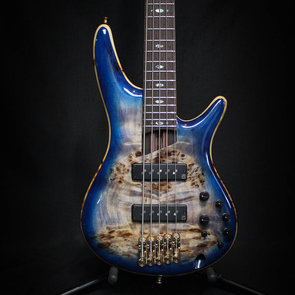 Used Ibanez SR2605E Bass Guitar w/ Bag - Cerulean Blue Burst 090720