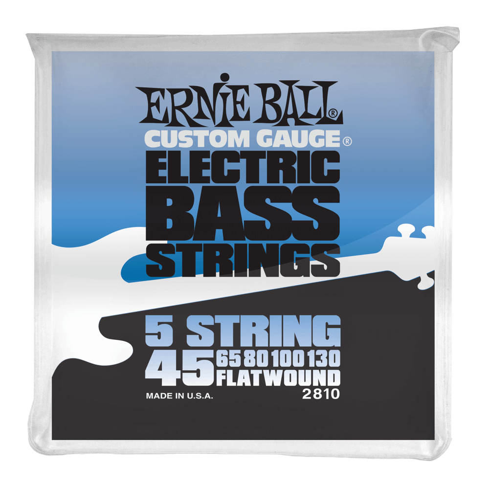 Ernie Ball 5-String Stainless Steel Flatwound Electric Bass Strings