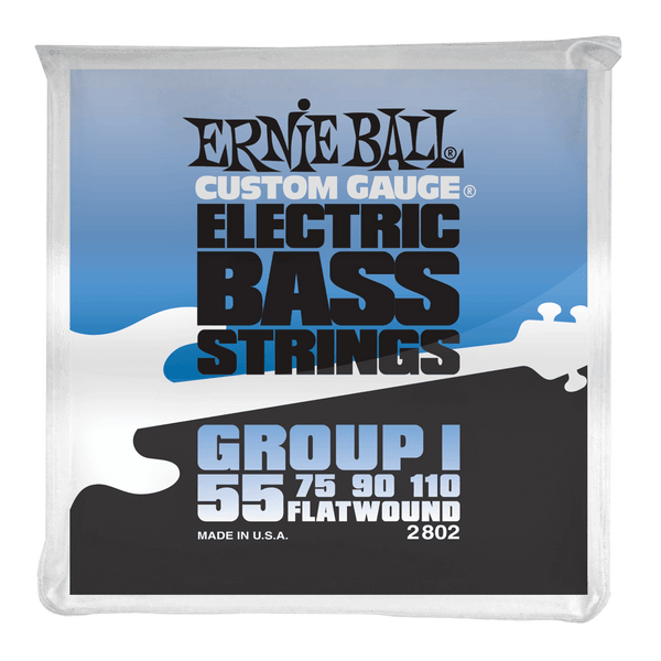 Ernie Ball Group I Stainless Steel Flatwound Electric Bass Strings