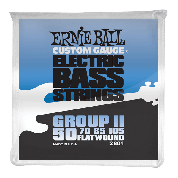 Ernie Ball Group II Stainless Steel Flatwound Electric Bass Strings