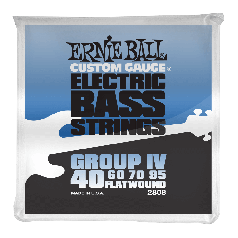 Ernie Ball Group IV Stainless Steel Flatwound Electric Bass Strings