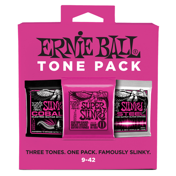 Ernie Ball Super Slinky Tone Pack Electric Guitar Strings