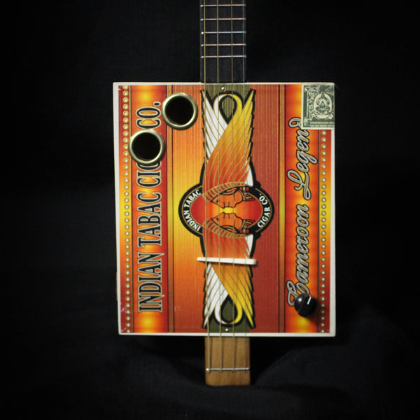 Used Indian Tabac Cigar Box Electric Guitar 101020