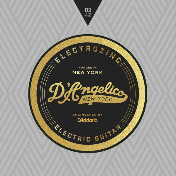 D'Angelico Electrozinc Strings - Rock 9-42