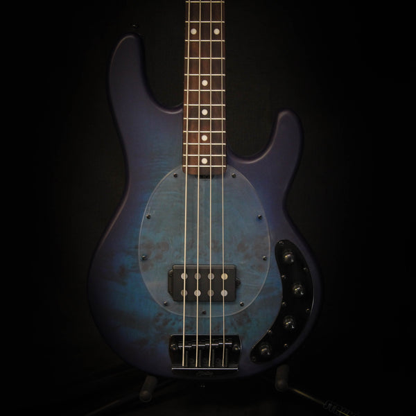 Sterling StingRay RAY34PB Electric Bass w/ Bag - Neptune Blue Satin