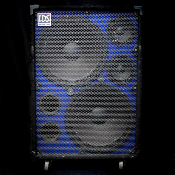 "Used Low Down Sound LDS215 2x15"" 750w 4 Ohm Bass Cab w/ 2x6"" Mid Drivers"