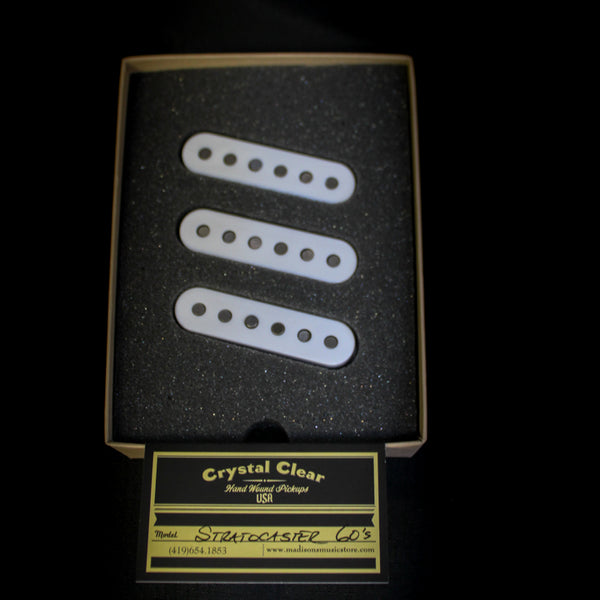 Crystal Clear Pickups - Handwound '60s Strat Pickups - White