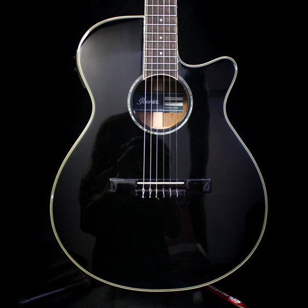 Ibanez AEG10NII Cutaway Acoustic Guitar - BK Black High Gloss - Factory Blemish