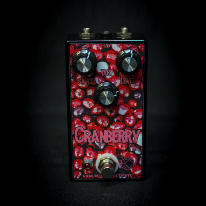 Rare Buzz Effects Cranberry Drive Overdrive Pedal - Midnight Edition