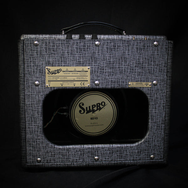 "Used Supro 1600 Supreme 25w 1x10"" Tube Combo 052120"