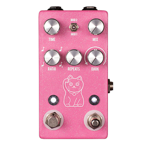 JHS Lucky Cat Delay Pedal - Pink