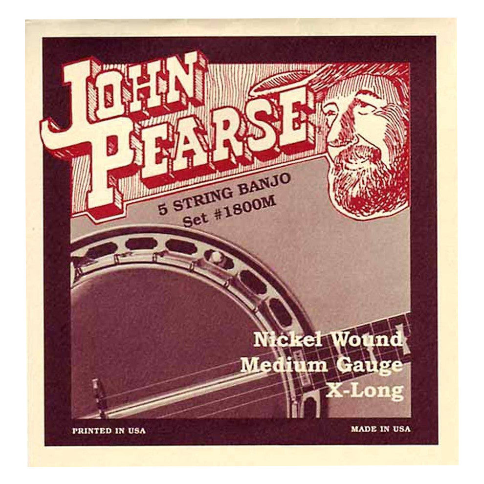 John Pearse 1800M Nickel Wound Banjo Strings