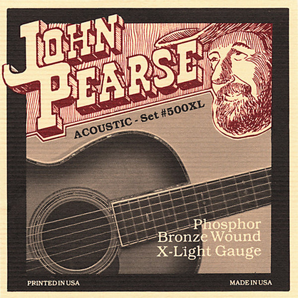 John Pearse 500XL Acoustic Strings - Phosphor Bronze / Extra Light Gauge
