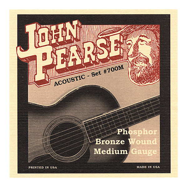 John Pearse 700M Acoustic Strings - Phosphor Bronze / Medium Gauge