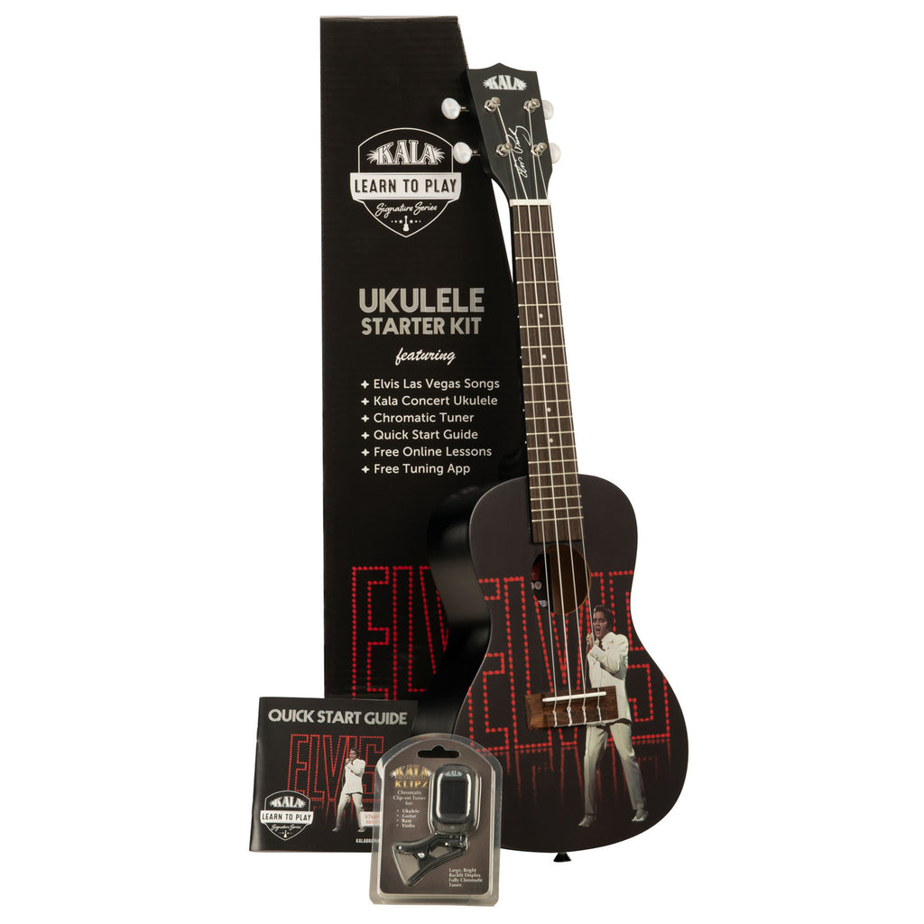 Kala Learn To Play Elvis Viva Las Vegas Concert Ukulele Starter Set
