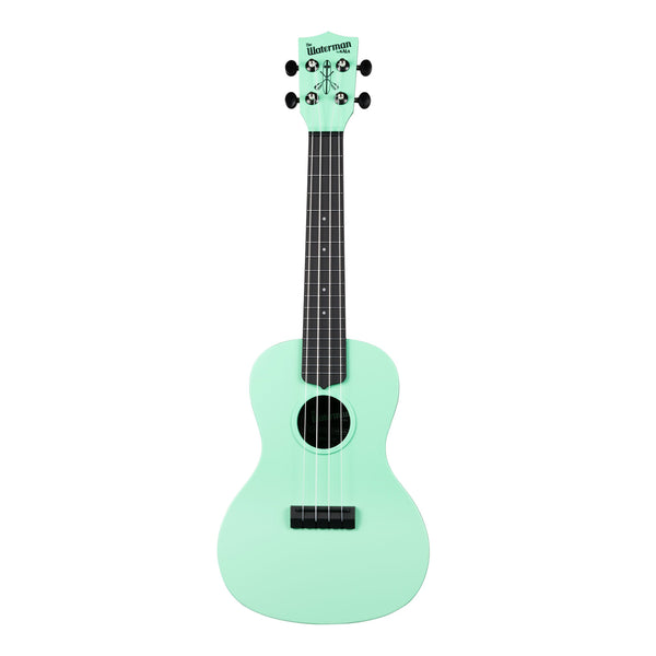 Kala Waterman Concert Ukulele w/ Bag - Matte Green