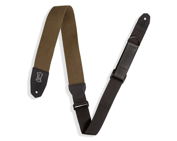 "Levy's 2"" Right Height Cotton Leather Strap Featuring RipChord Technology"