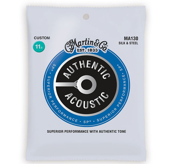 Martin MA130 Silk & Steel Acoustic Guitar Strings - Custom - 11.5-47