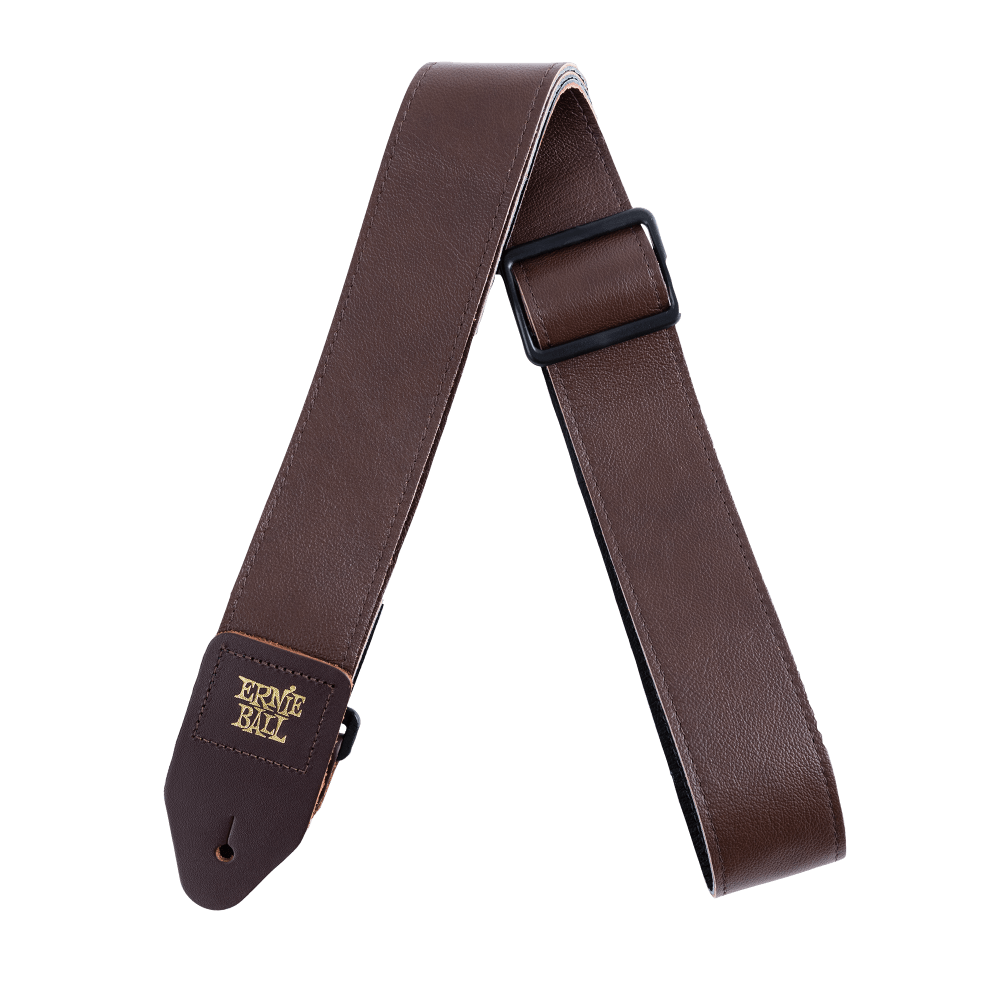 "Ernie Ball 2"" Italian Leather Strap - Brown"