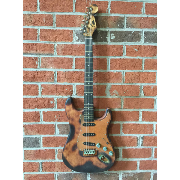 Ratfiddle Custom Built Burned and Rusted S-Style Electric Guitar