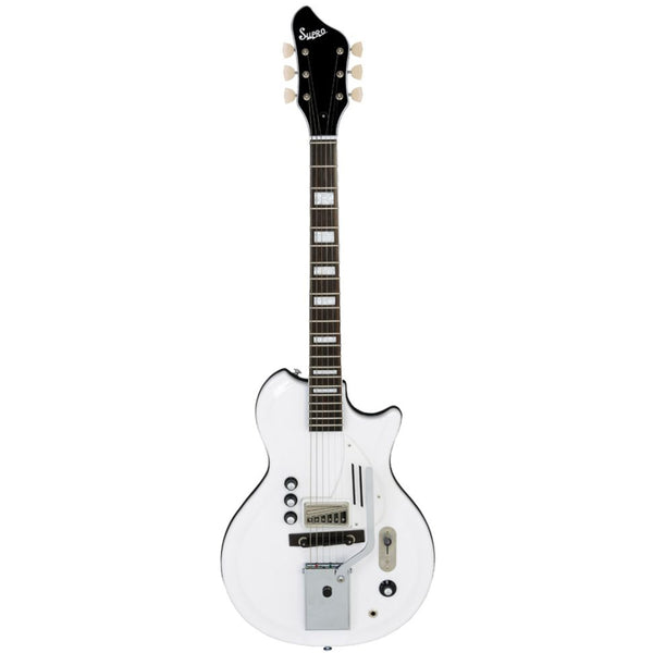 Supro White Holiday Electric Guitar