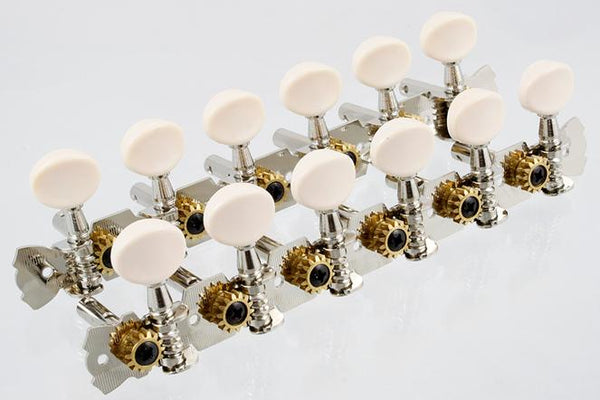 Allparts 6x6 Strip Tuning Machines for 12-String Acoustic Guitar