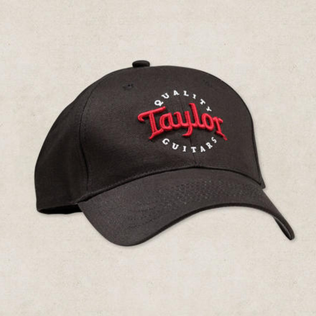 Taylor Black Cap- Red and White Logo