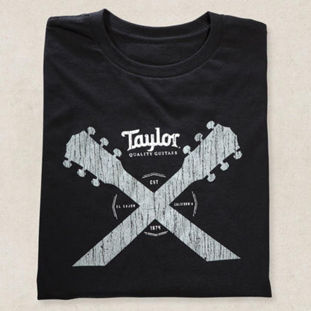 Taylor Double Guitar Neck Tee - Black