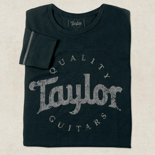 Taylor Guitars Logo Long Sleeve Thermal - Aged Black