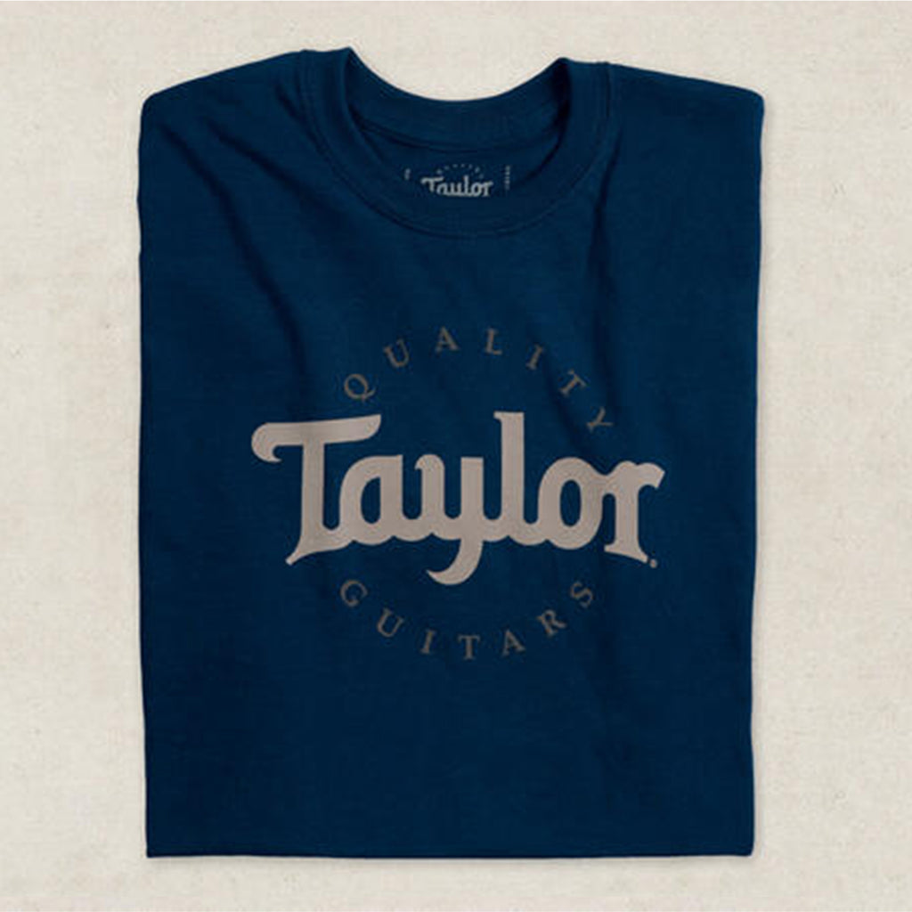 Taylor Two-Color Logo Tee Shirt - Navy