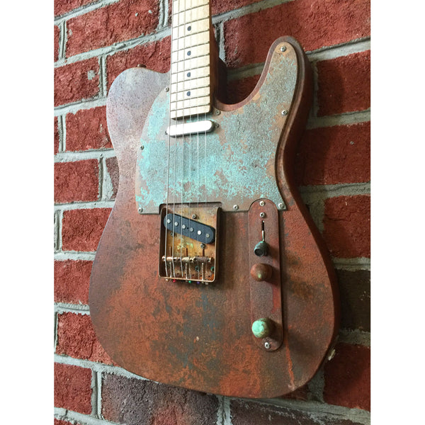 Ratfiddle Custom Burned and Rusted T-Style Electric Guitar