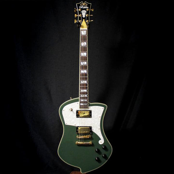 Used D'Angelico Deluxe Series Ludlow Electric Guitar w/ Case - Army Green 120119