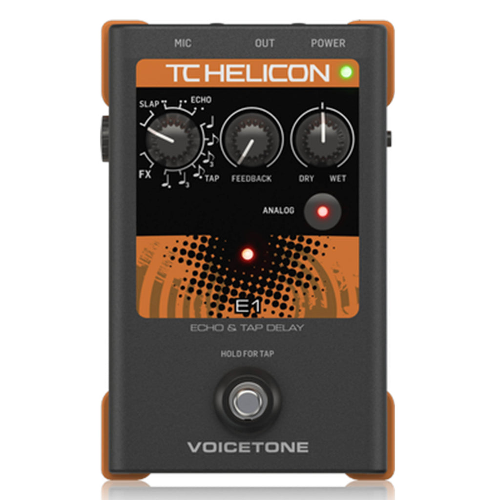 TC Helicon VoiceTone E1 Vocal Effects Echo Pedal