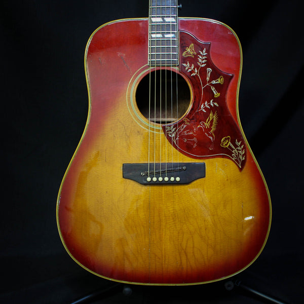 Vintage 1969 Gibson Hummingbird Acoustic Guitar - Cherry Sunburst