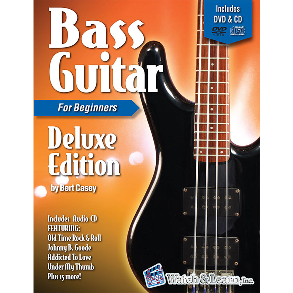 Watch & Learn Bass Guitar Primer Deluxe Edition Instruction Method