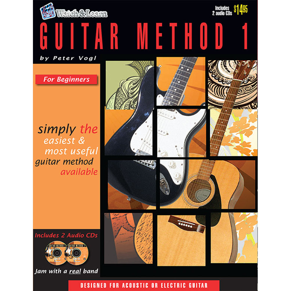 Watch & Learn Guitar Method 1 Instruction Book with CD's