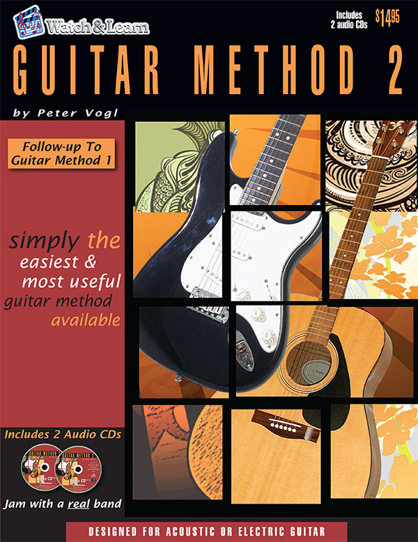 Watch & Learn Guitar Method 2 Instruction Book with CD's