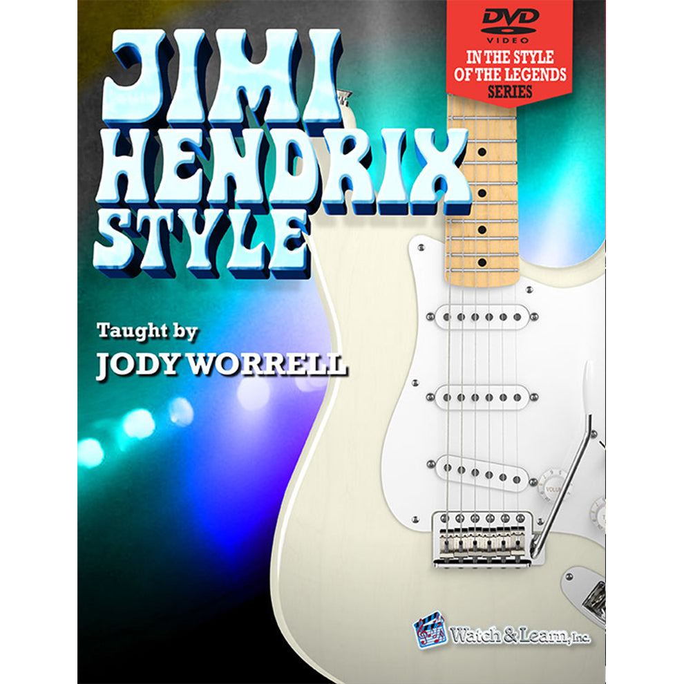 Watch & Learn Jimi Hendrix Style Instruction Book with DVD's