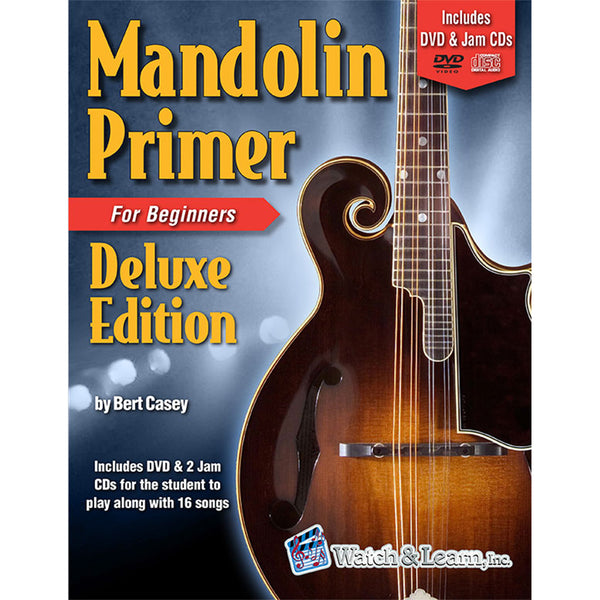 Watch & Learn Mandolin Primer Deluxe Edition Instruction Method with DVD and Jam CDs