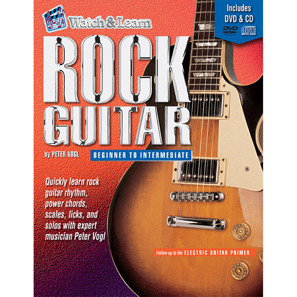 Watch & Learn Rock Guitar Deluxe Edition Instruction Method with DVD and CD's