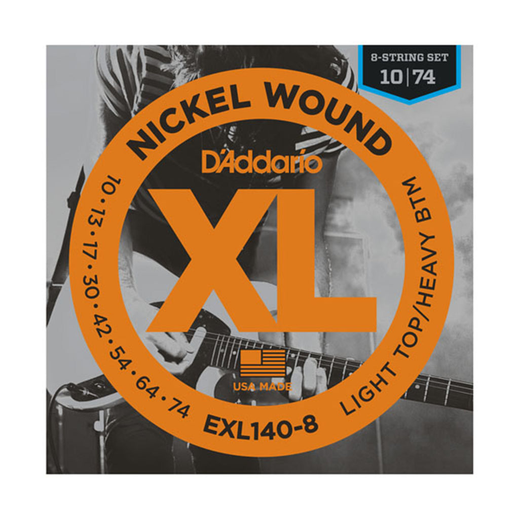 D'Addario EXL140-8 Nickel Wound 8-String Electric Guitar Strings - 10-74