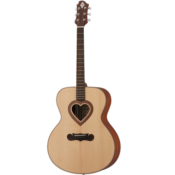 Zemaitis Jumbo Heart Hole Acoustic Guitar w/Bag - CAJ-100HW