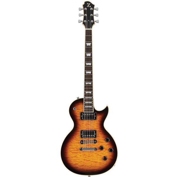 Zemaitis Z Series Electric Guitar w/Bag - Brown Burst - Z22QS-BSB