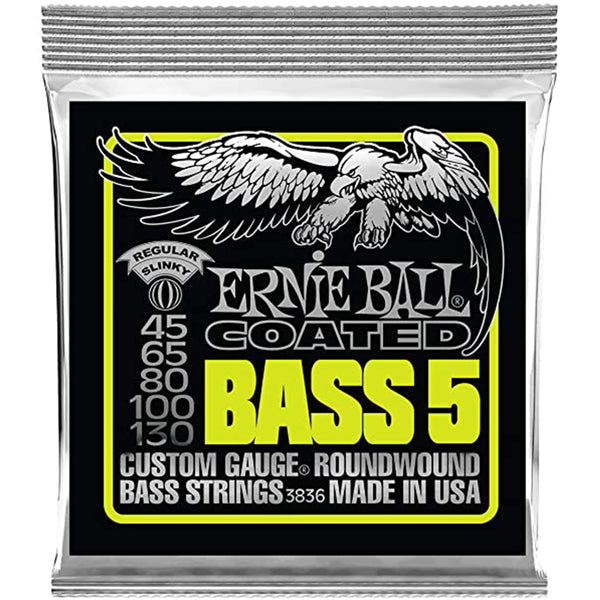 Ernie Ball Slinky Coated 5-String Bass Strings