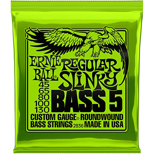 Ernie Ball Regular Slinky 5-String Nickel Wound Bass Strings