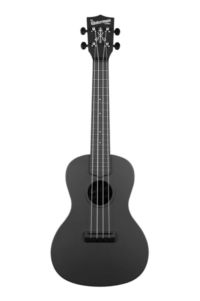 Kala Waterman Concert Ukulele w/ Bag - Matte Black