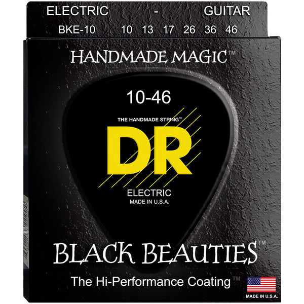 DR Black Beauties Black Coated Electric Guitar Strings - 10-46