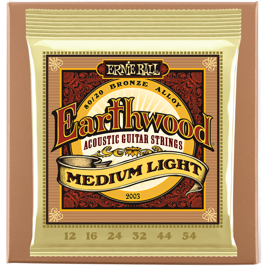 Ernie Ball Earthwood 80/20 Acoustic Strings - Medium Light