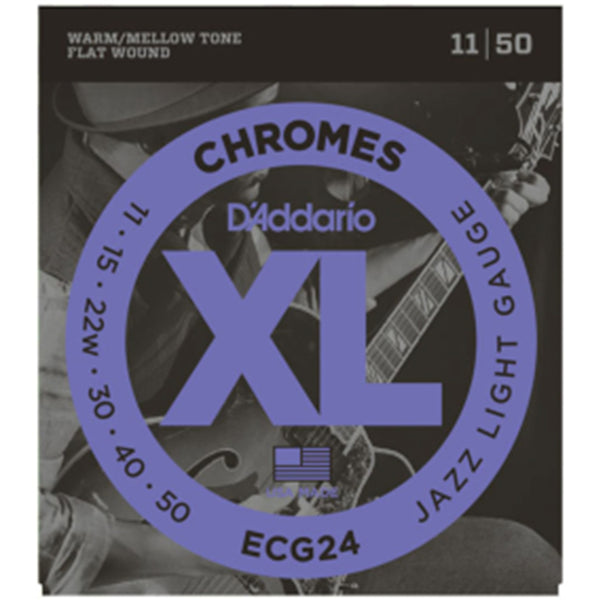 D'Addario ECG24 Chromes Flatwound Guitar Strings - 11-50